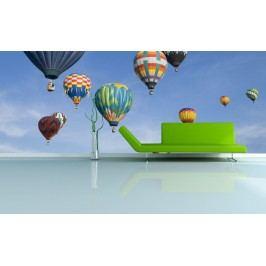 Horkovzdušné balóny (126 x 83 cm) -  Fototapeta