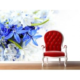 Modrá květina (126 x 83 cm) -  Fototapeta na stěnu