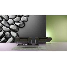 Černé kameny (126 x 84 cm) -  Fototapeta na stěnu