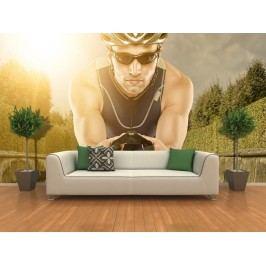 Cyklista (126 x 84 cm) -  Fototapeta na zeď