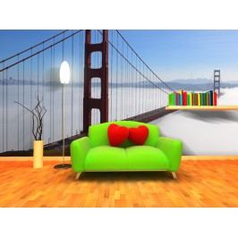 Xdecor Golden Gate Bridge (126 x 84 cm) -  Fototapeta