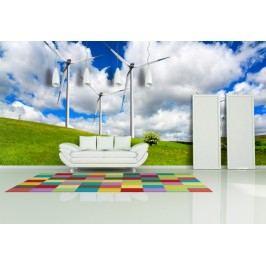 Krajina s mlýny 2 (126 x 84 cm) -  Fototapeta na stěnu