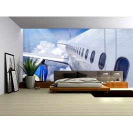 Křídlo letadla (126 x 84 cm) -  Fototapeta na zeď