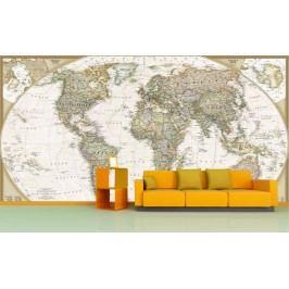 Mapa světa (126 x 84 cm) -  Fototapeta na zeď