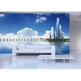Město a moře (126 x 84 cm) -  Fototapeta na stěnu