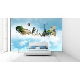 Monumenty v oblacích (126 x 84 cm) -  Fototapeta na zeď