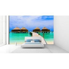 Chatky na moři (126 x 87 cm) -  Fototapeta