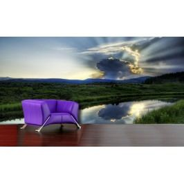 Mrak nad krajinou (126 x 89 cm) -  Fototapeta
