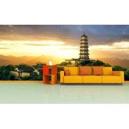 Asijská věž (126 x 94 cm) -  Fototapeta na zeď