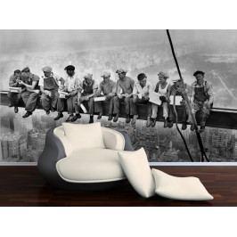 Dělníci na traverze (126 x 97 cm) -  Fototapeta na zeď