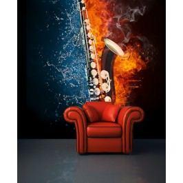 Saxofon (126 x 105 cm) -  Fototapeta na zeď