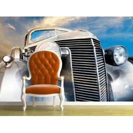 Retro automobil (126 x 126 cm) -  Fototapeta na stěnu