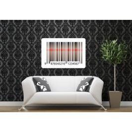 Čárový kód (60 x 40 cm) -  Barevná samolepka na zeď