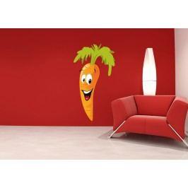 Mrkev (60 x 32 cm) -  Barevná samolepka na stěnu