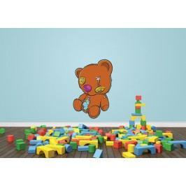 Potrhaný medvídek (60 x 40 cm) -  Barevná samolepka na zeď
