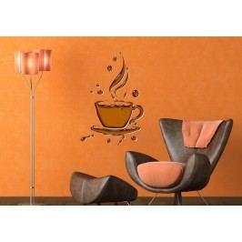 Šálek čaje (60 x 40 cm) -  Barevná samolepka na zeď