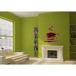 Šálek kávy (54 x 50 cm) -  Barevná samolepka