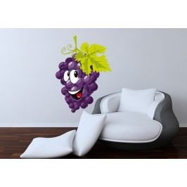 Hroznové víno (60 x 43 cm) -  Barevná samolepka na zeď