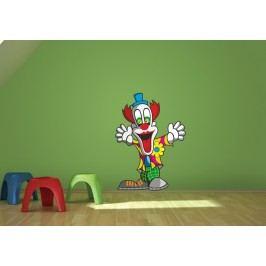 Klaun (60 x 43 cm) -  Barevná samolepka na zeď