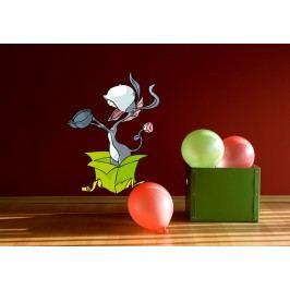 Osel jako dárek (60 x 45 cm) -  Barevná samolepka na stěnu