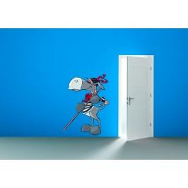 Osel gondoliérem (60 x 46 cm) -  Barevná samolepka na stěnu