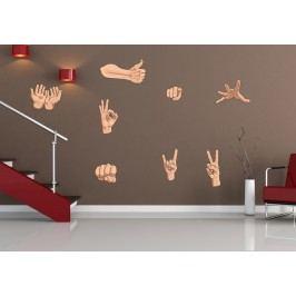 Gesta rukou - Barevná samolepka na stěnu