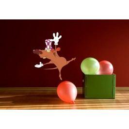 Myš baletka (60 x 53 cm) -  Barevná samolepka na zeď