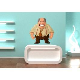 Naštvaný šéf (60 x 57 cm) -  Barevná samolepka na zeď
