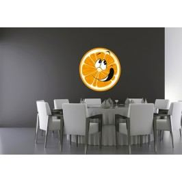 Pomeranč (60 x 57 cm) -  Barevná samolepka na zeď