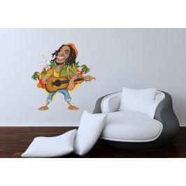 Rasta man (60 x 57 cm) -  Barevná samolepka na stěnu