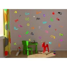 Barevná abeceda - Barevná samolepka na stěnu