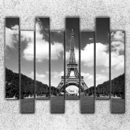 Eiffelova věž z dálky (160 x 140 cm) -  Osmidilný obraz