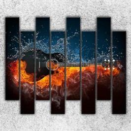 Kytara v ohni (160 x 140 cm) -  Osmidilný obraz