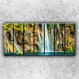 Skalní vodopád 2 (210 x 100 cm) -  Sedmidilný obraz