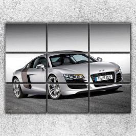 Stříbrné Audi 3 (210 x 150 cm) -  Devítidilný obraz