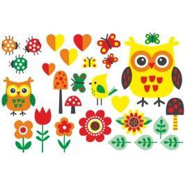 Set sovičky žlutozelené (60 x 40 cm) -  Samolepky na zeď