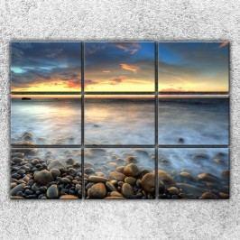 Xdecor Oceán a kameny (210 x 150 cm) -  Devítidilný obraz