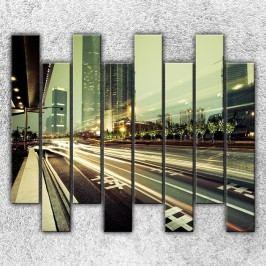 Tepny velkoměsta 6 (160 x 140 cm) -  Osmidilný obraz