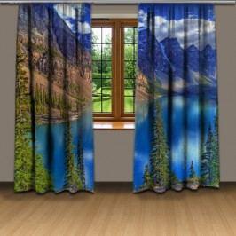 Jezero v horách (140 x 250 cm) -  3D závěs