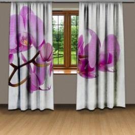 Fialová orchidej (140 x 250 cm) -  3D závěs