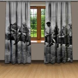 Dělníci na traverze (140 x 250 cm) -  Dekorační závěs