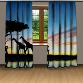 Noční safari (140 x 250 cm) -  Dekorační závěs