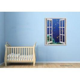 Pod mořem (80 x 62 cm) -  Okno živá dekorace