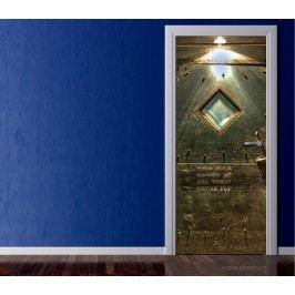 Dveře do skladu (92 × 210 cm) -  Živá dekorace na dveře