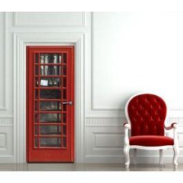 Telefonní budka (92 × 210 cm) -  Živá dekorace na dveře
