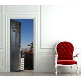 Vstup do města (92 × 210 cm) -  Živá dekorace na dveře