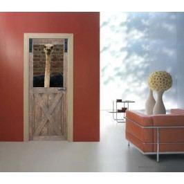 Pštros (92 × 210 cm) -  Živá dekorace na dveře