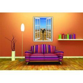 Pštros (130 x 100 cm) -  Okno živá dekorace