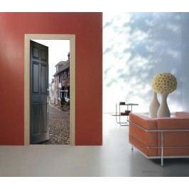 Dveře do městečka (92 × 210 cm) -  Živá dekorace na dveře