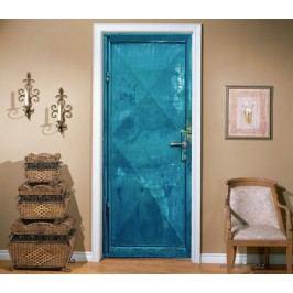 Modré plechové (92 × 210 cm) -  Živá dekorace na dveře